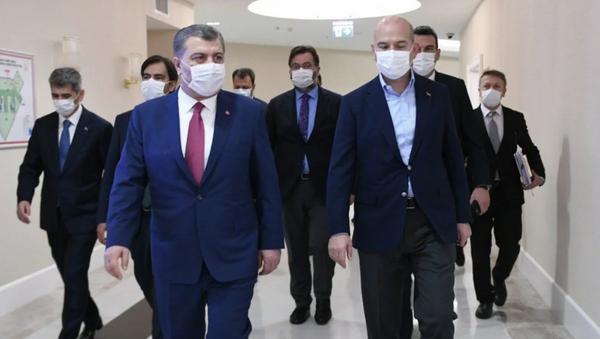 Fahrettin Koca - Süleyman Soylu - Sputnik Türkiye