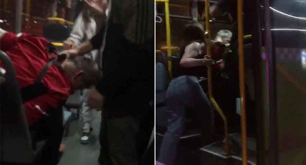 Belediye otobüsünde 'taciz' dayağı