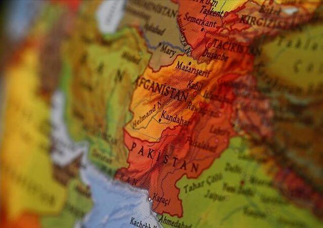 Dünya haritasında Afganistan