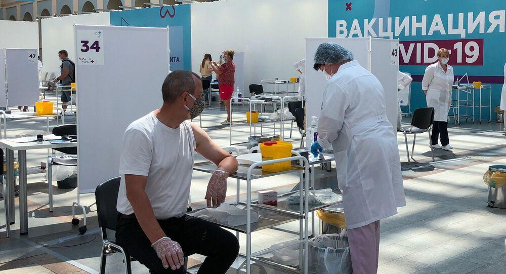 Rusya'da kovid-19 aşı uygulaması
