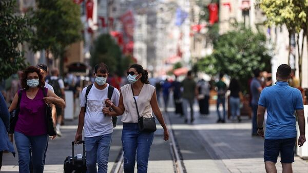 İstanbul - Taksim -  maske  - Sputnik Türkiye