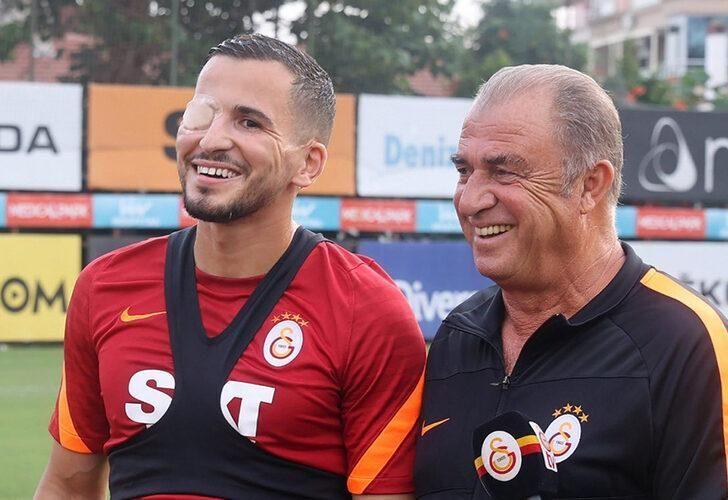 Galatasaray'da Omar Elabdellaoui, kazadan beri ilk kez takımla çalıştı