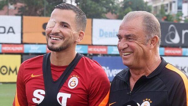 Galatasaray'da Omar Elabdellaoui, kazadan beri ilk kez takımla çalıştı - Sputnik Türkiye