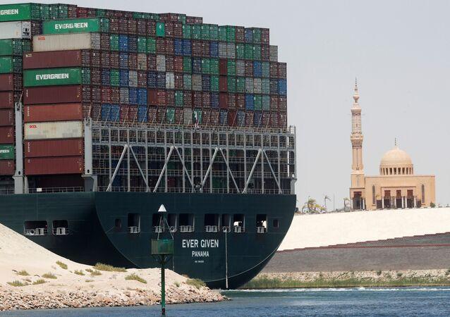 Ever Given konteyner gemisi, Mısır