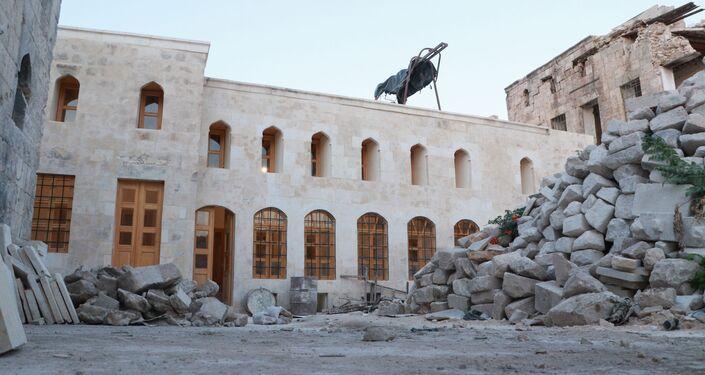 Halep'te tarihi pazar yeri restorasyonu