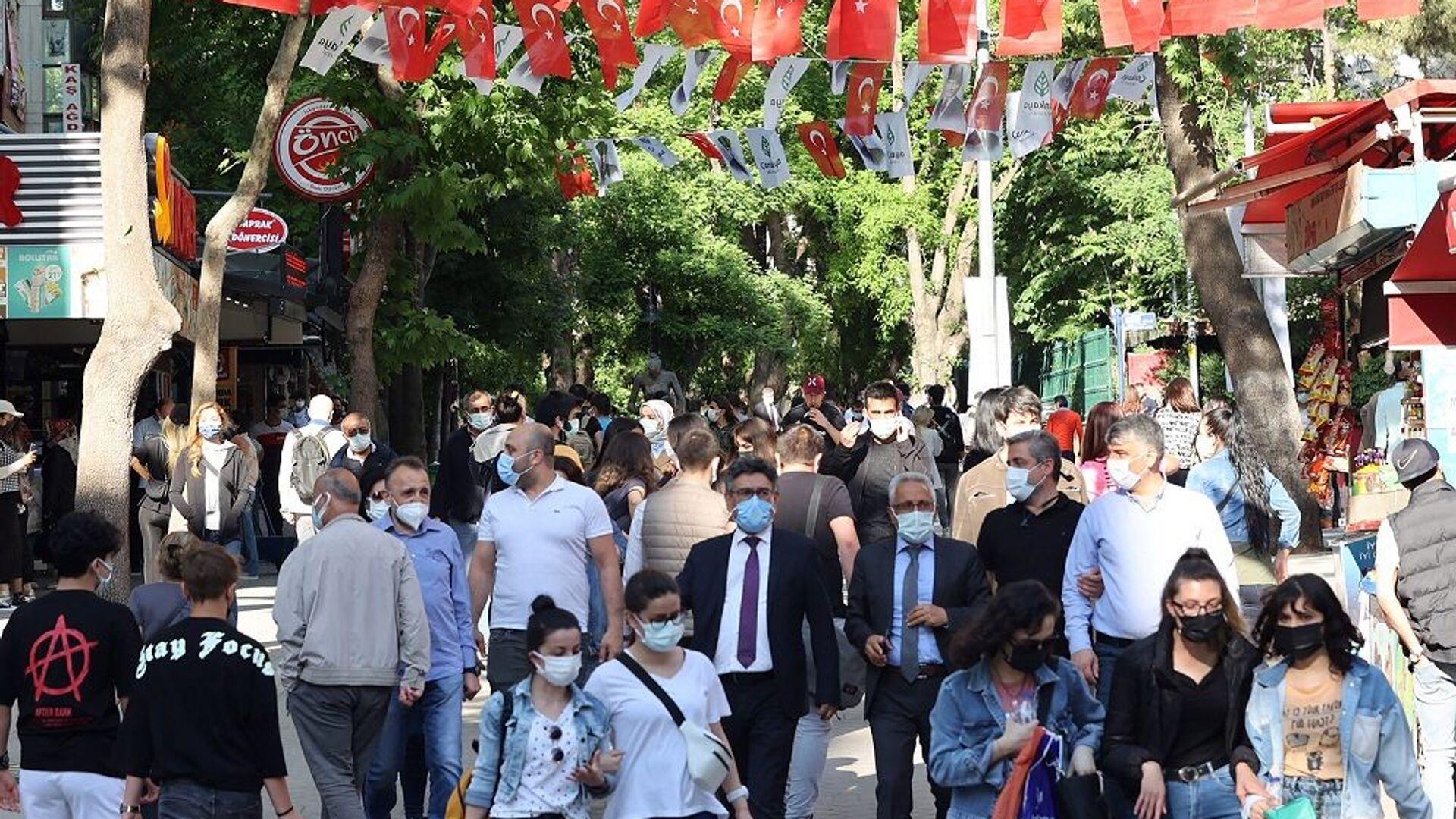 Vaka-maskeli insanlar-Ankara - Sputnik Türkiye, 1920, 12.07.2021