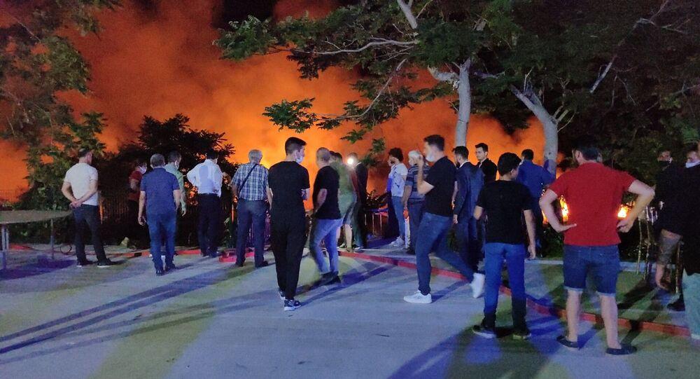 Düğün salonundan atılan havai fişekler, Burdur Gölü'ndeki sazlıkta yangına neden oldu