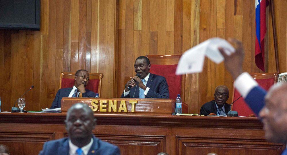 Haiti'de Geçici Devlet Başkanı ilan edilen Senatör Joseph Lambert