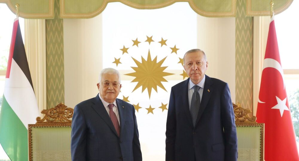 Cumhurbaşkanı Recep Tayyip Erdoğan, Filistin Devlet Başkanı Mahmud Abbas