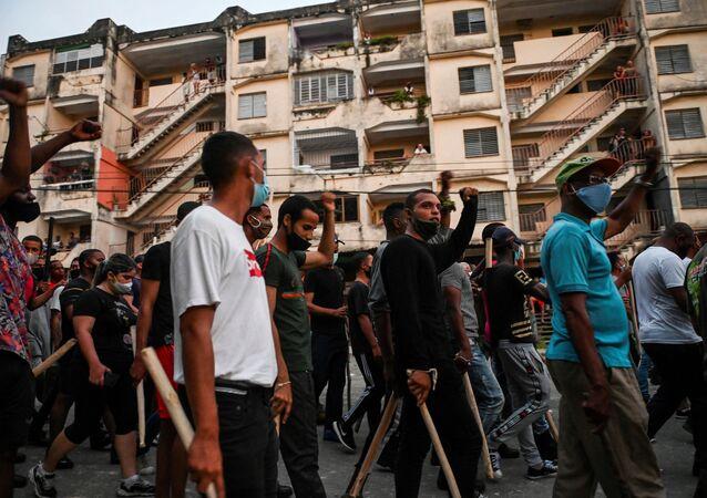 Küba protesto