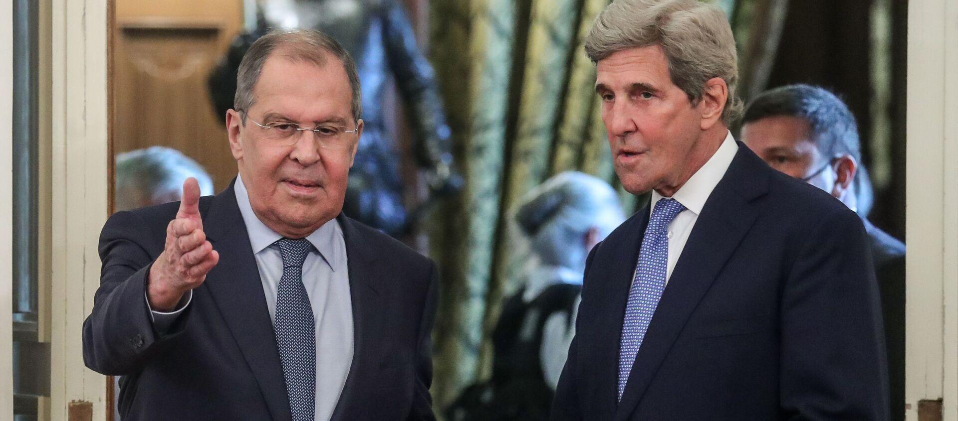 Sergey Lavrov -  John Kerry - Sputnik Türkiye, 1920, 13.07.2021