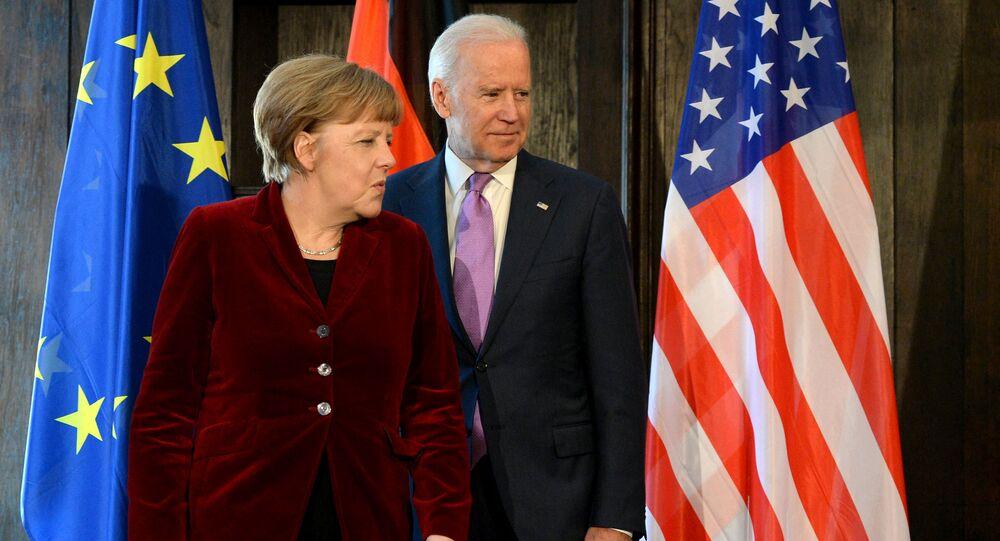 Angela Merkel -  Joe Biden