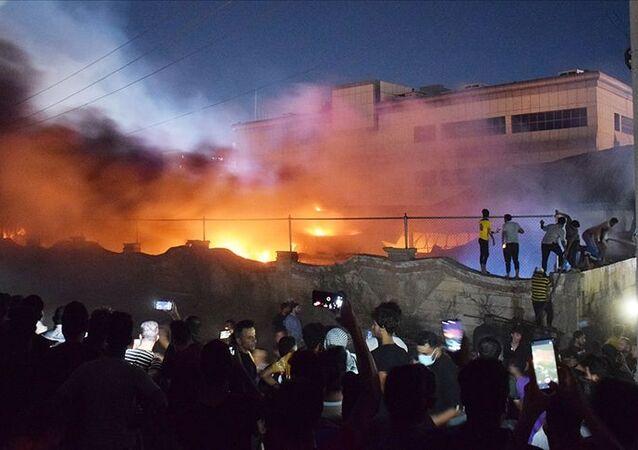 Irak'taki Kovid-19 hastanesinde çıkan yangında ölü sayısının 28 artarak 92'ye yükseldiği bildirildi