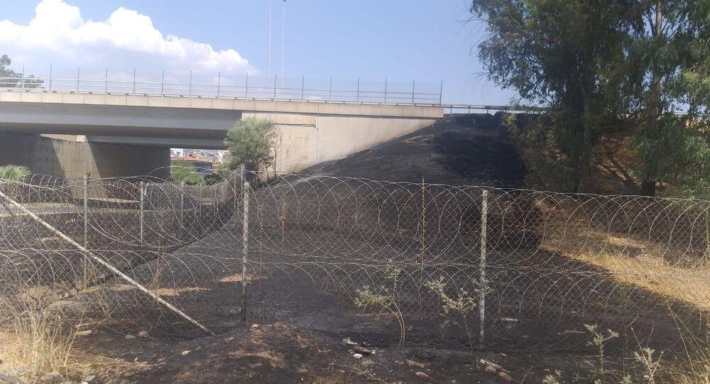Araç içinden atılan izmarit yangına sebep oldu