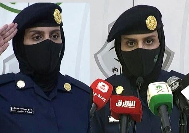 Suudi Arabistan'da bir ilk: Kadın asker, hac hakkında basın toplantısı düzenledi