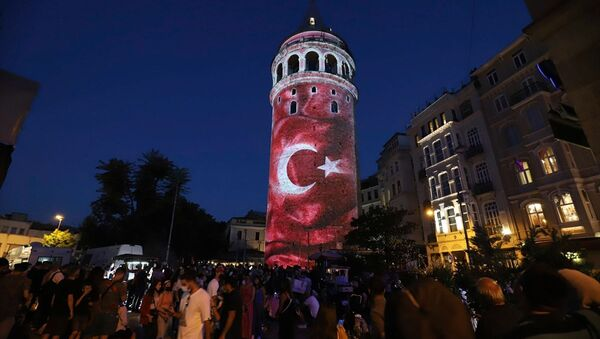 Galata Kulesi 15 Temmuz - Sputnik Türkiye