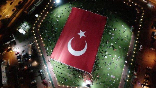 Kayseri - en büyük Türk bayrağı - Sputnik Türkiye