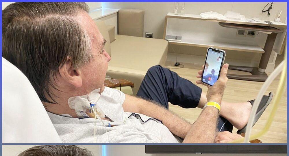 """Sağlık sorunları nedeniyle kaldırıldığı hastanede tedavisi süren Brezilya Devlet Başkanı Jair Bolsonaro, """"En kısa zamanda yeniden işbaşında olmayı umuyorum"""" dedi."""
