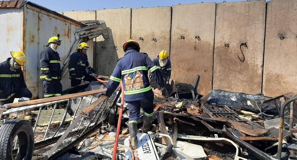 Irak'ın başkenti Bağdat'taki bir askeri havalimanında çıkan yangın büyük bir felakete yol açmadan kontrol altına alındı.