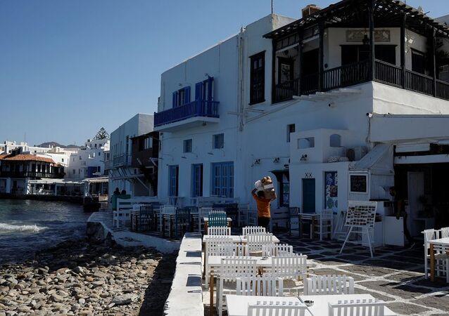 Mikonos Adası, Yunanistan