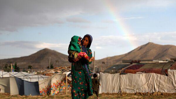 Afganistan - çocuk - ülke içi mülteci -  - Sputnik Türkiye
