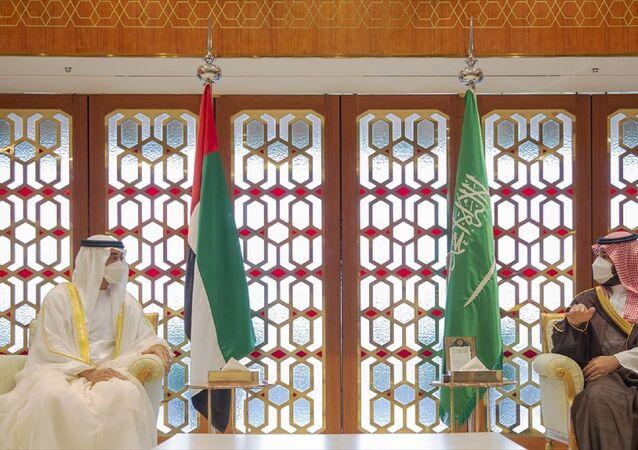 Suudi Arabistan Veliaht Prensi Muhammed bin Selman ile Birleşik Arap Emirlikleri (BAE) Veliaht Prensi Muhammed bin Zayid Al Nahyan