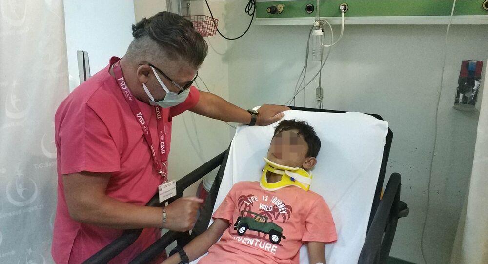 11 yaşındaki çocuk evden gizlice aldığı arabayla kaza yaptı