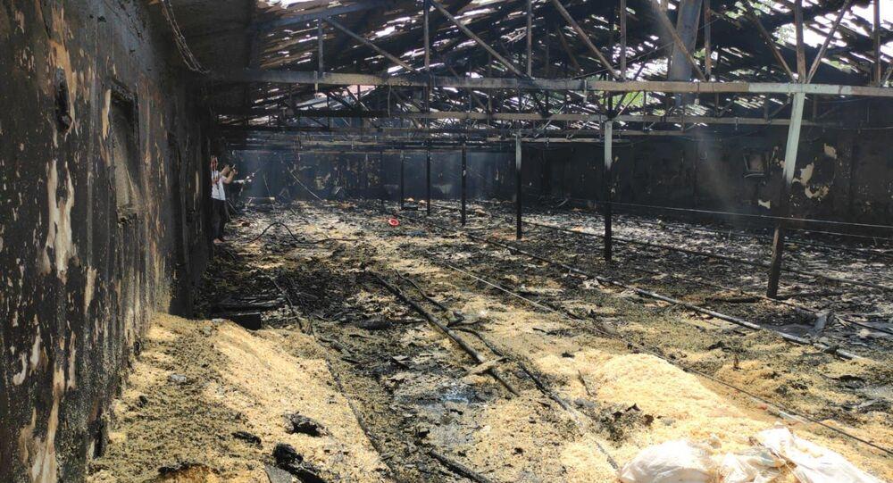 Zonguldak'ta yanan çiftlik, hindi