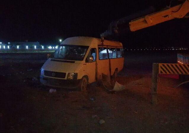 Konya'da mevsimlik işçileri taşıyan minibüs şarampole devrildi