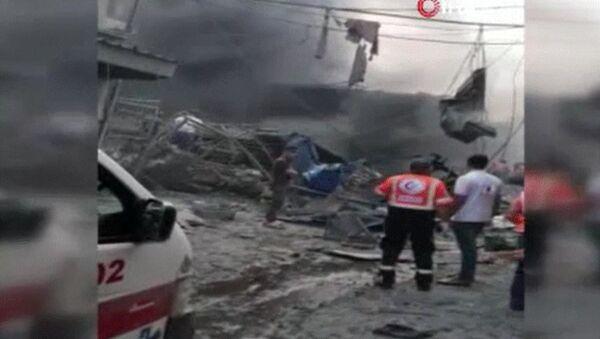 gazze pazar yeri patlama - Sputnik Türkiye