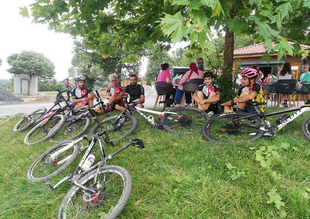 Polonezköy Tabiat Parkı'nda kaybolan bisikletçiler
