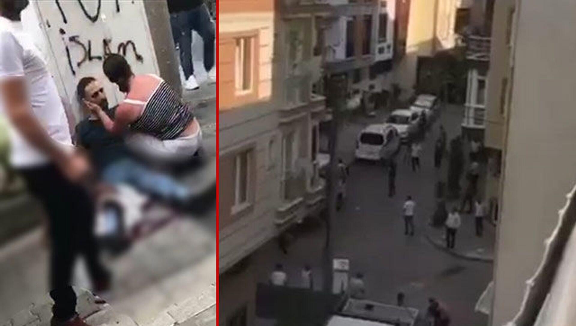 İstanbul Küçükçekmece'de iki grup arasında henüz bilinmeyen bir nedenle başlayan tartışma, büyüyerek silahlı çatışmaya dönüştü. Olayda biri başından olmak üzere 3 kişi yaralanırken, 3 kişi de gözaltına alındı. - Sputnik Türkiye, 1920, 24.07.2021