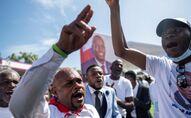 Haiti'nin suikast sonucu hayatını kaybeden Devlet Başkanı Jovenel Moise için yoğun protestolar arasında cenaze töreni düzenlendi