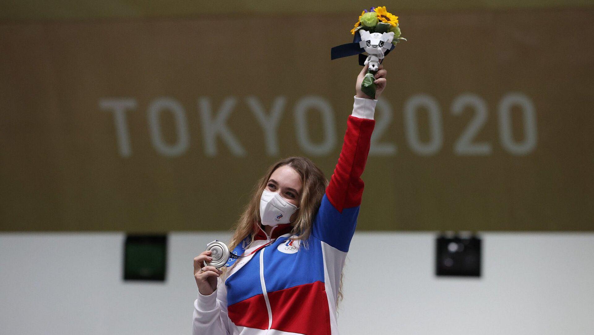 Tokyo Olimpiyatları'nda Rus ekibin ilk madalyası geldi - Sputnik Türkiye, 1920, 24.07.2021