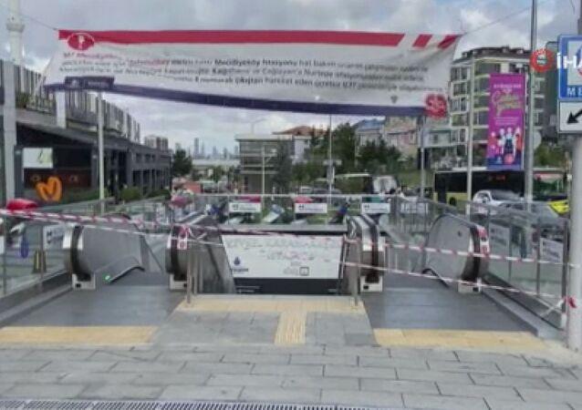 İstanbul metrosunda klima patlaması
