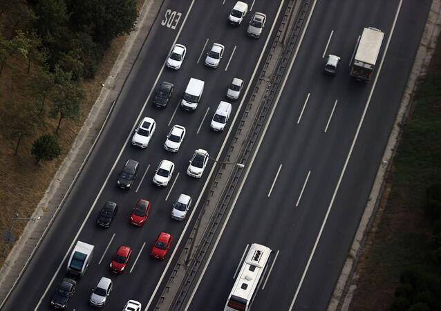 İstanbul, araç trafik, yol,