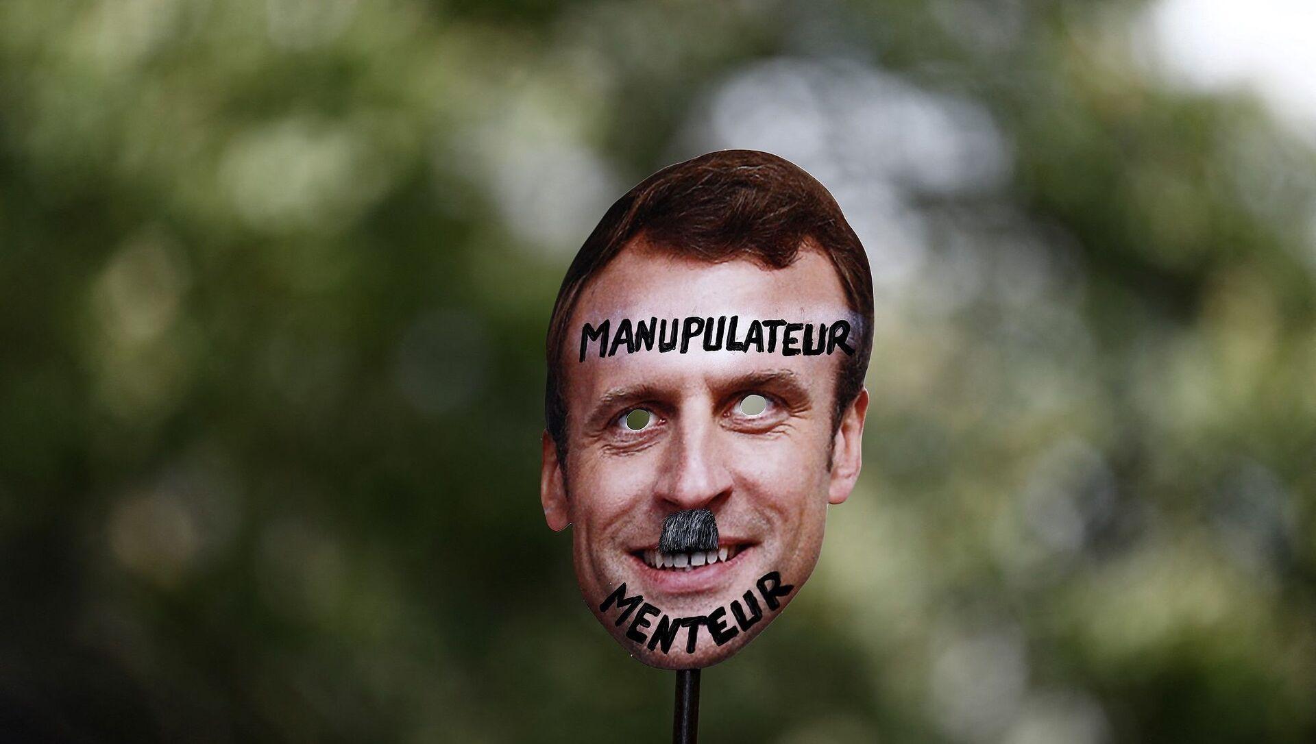 Fransa'nın dört bir yanında 'Kovid-19 aşısı' protestoları - Macron - Sputnik Türkiye, 1920, 24.07.2021