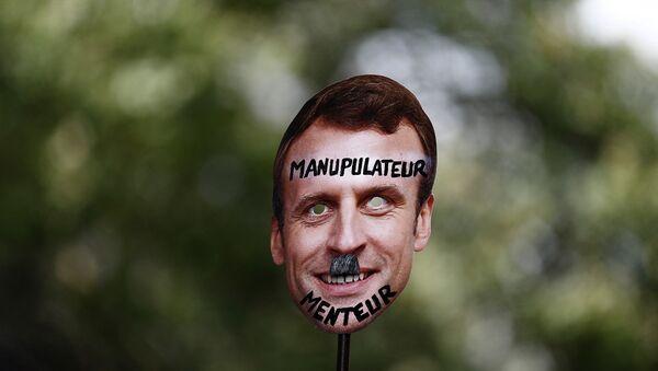 Fransa'nın dört bir yanında 'Kovid-19 aşısı' protestoları - Macron - Sputnik Türkiye