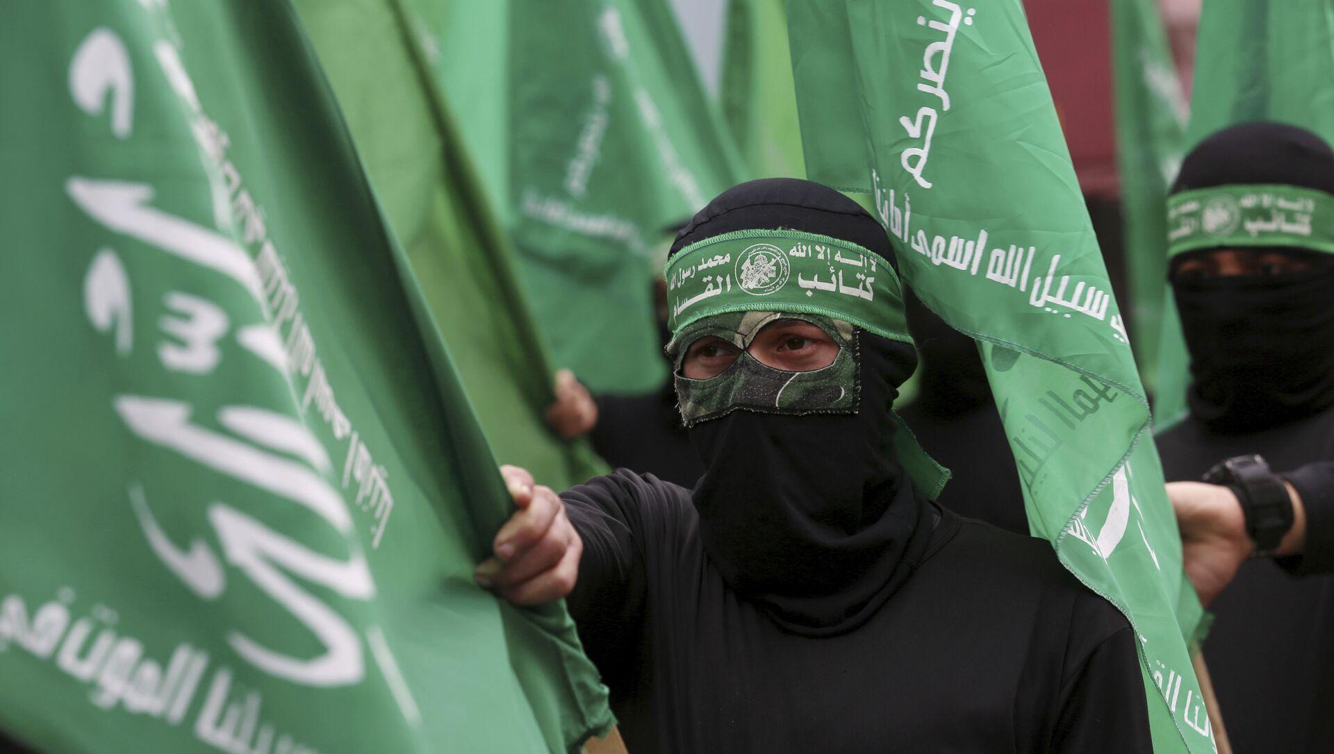 Hamas - Hamas bayrağı - Sputnik Türkiye, 1920, 24.07.2021