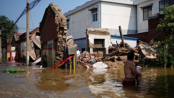 Çin'deki sel felaketi - Sputnik Türkiye