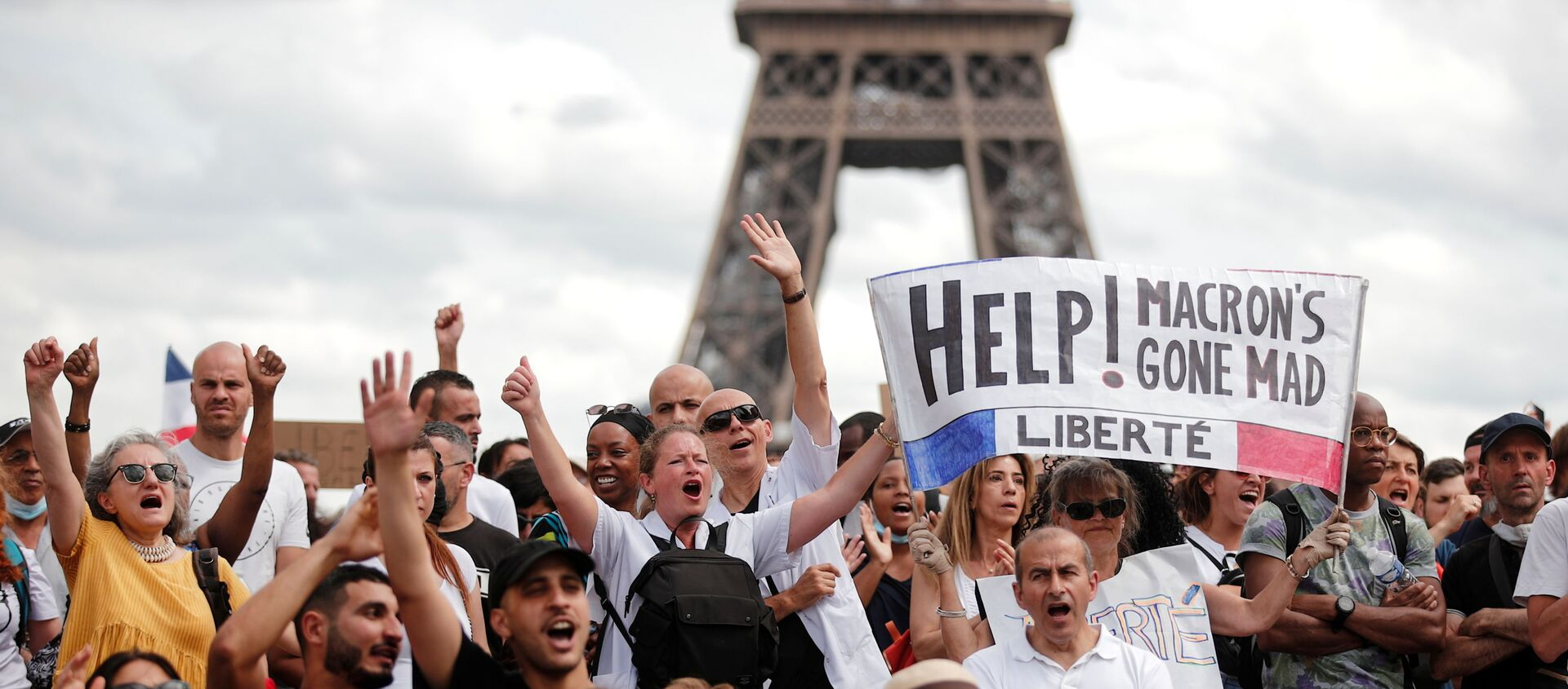 Fransa'da Kovid aşısı-testi durumunu gösteren sağlık kimliği ile sağlık personeline aşı zorunluluğu öngörülmesi, yeni protesto dalgası başlattı. - Sputnik Türkiye, 1920, 25.07.2021
