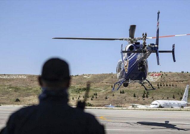Bayram tatili sonrası dönüş trafiği havadan ve karadan denetlendi, polis helikopteri