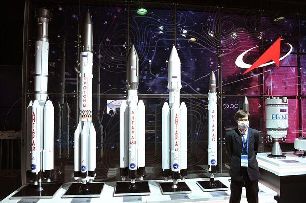Rusya devlet uzay ajansı Roscosmos'un standı. - Sputnik Türkiye