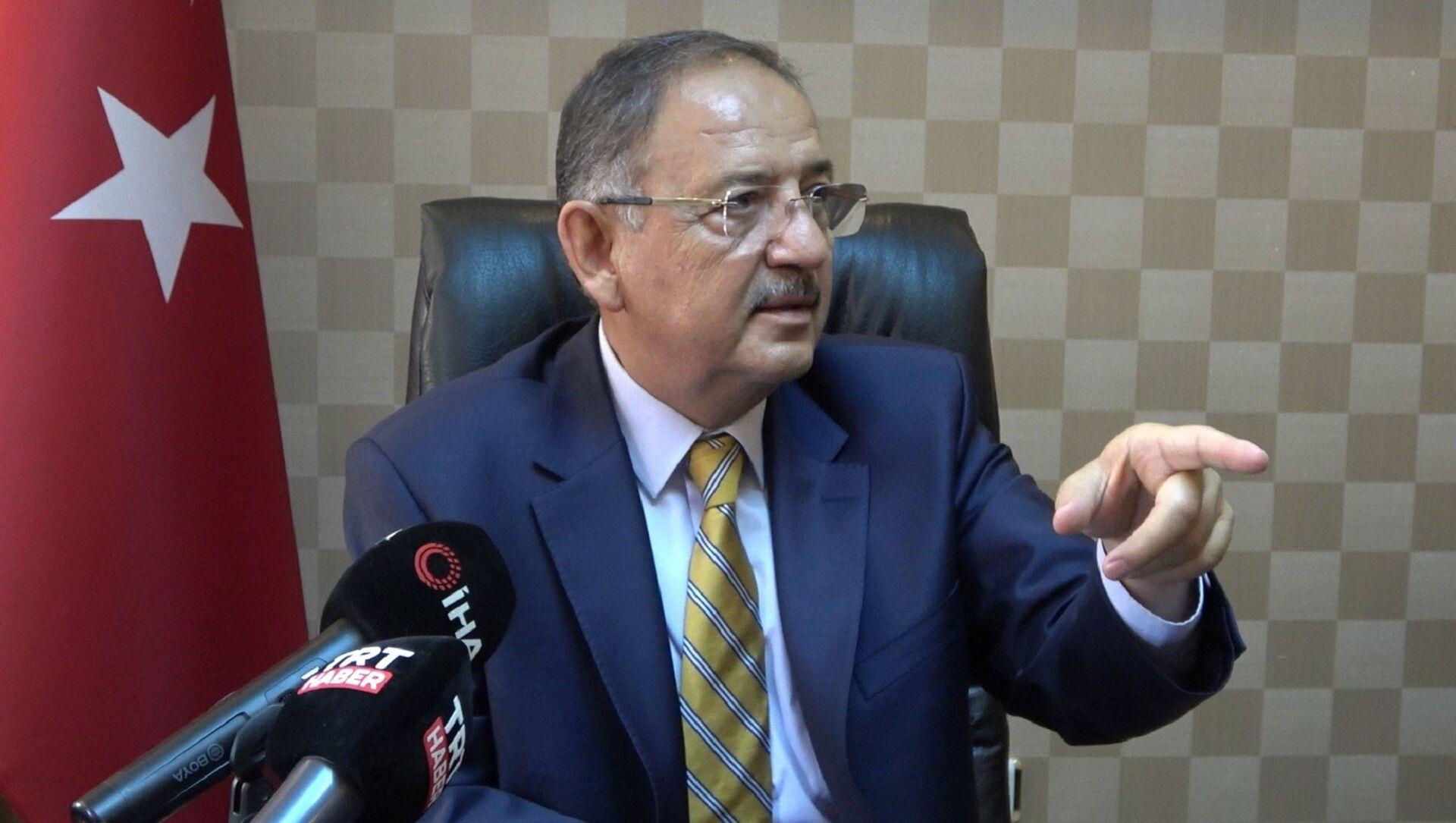 AK Parti Genel Başkan Yardımcısı ve Yerel Yönetimler Başkanı Mehmet Özhaseki, - Sputnik Türkiye, 1920, 27.07.2021