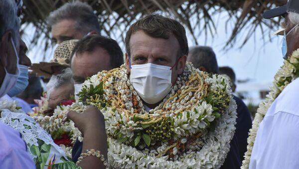 Fransız Polinezyası'nda Macron'a yeni isim verildi - Sputnik Türkiye