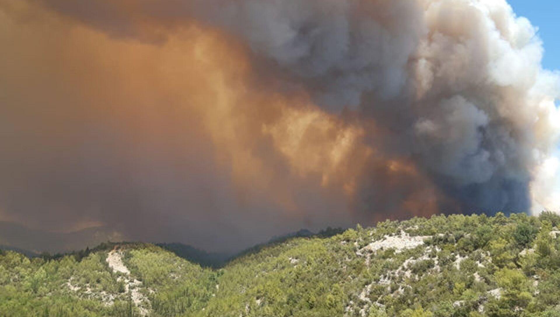 Manavgat'ta orman yangını - Sputnik Türkiye, 1920, 30.07.2021