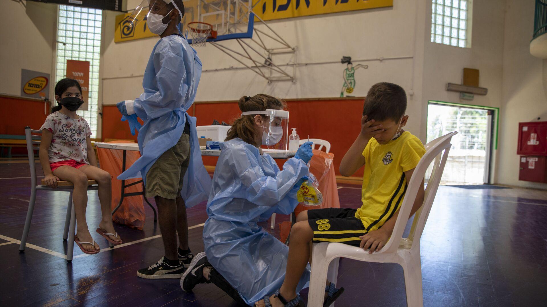 İsrail'de 5-11 yaş arası çocuklara aşı uygulaması başlıyor - Sputnik Türkiye, 1920, 14.09.2021