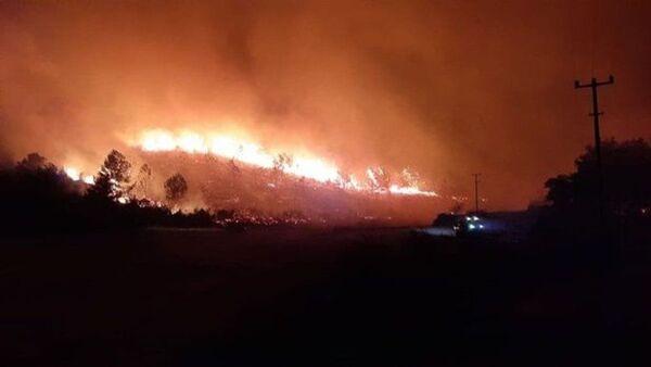 Antalya'nın Akseki ilçesinde orman yangını çıktı - Sputnik Türkiye