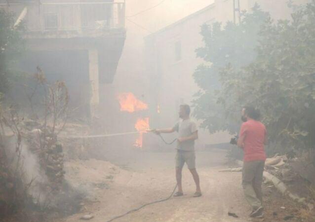 Özellikle Kalemler bölgesinde tahliye edilen birçok ev yangından zarar gördü.Manavgat'ta kriz masası oluşturularak evleri boşaltılan vatandaşlar için 700 civarında konaklama yeri ayarlandı.