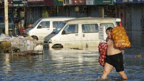 Çin'de sel felaketi: Ölü sayısı 90'ı aştı - Sputnik Türkiye